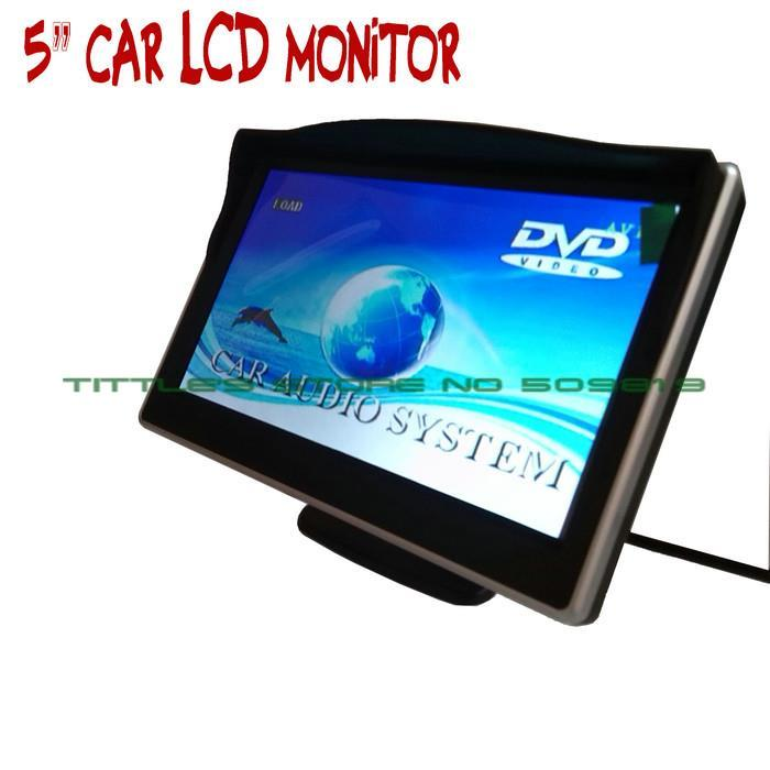 5 5 inch Digital CCD car monitor 800*480 TFT LCD 16:9 screen Car Rearview Monitor for car parking Camera