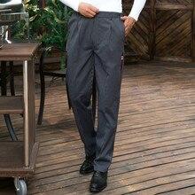 Chef Pants Autumn and Winter Chef Zebra Pants Workwear Striped Pants Glove Pants Chef Dress Men's Kitchen