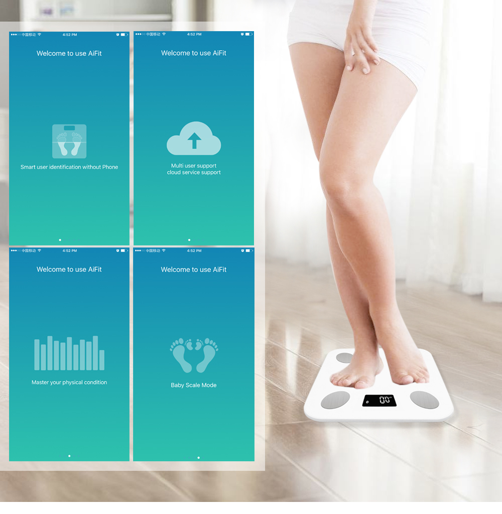 SMART BLUETOOTH BMI BODY FAT SMART DIGITAL SCALE W/ APP