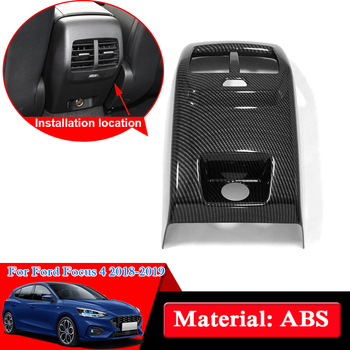 Car Styling ABS Chrome For Ford Focus 4 2018 2019 Rear Air Hood Cover Internal Accessories Decorations Sequins Car Stickers