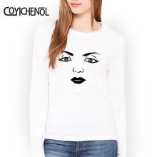 Cartoon eyes printed regular tshirt homme for women Modal tee solid color funny design tops COYICHENOL
