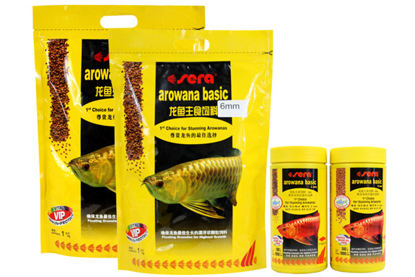 Arowana Food Silver Red Color 2mm 6mm Granules Small Fish Sera Fish Food Float On Water Canister Feeder Aquarium
