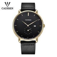 新 2019 CADISEN は、男性の高級トップブランドのクォーツ時計ファッションビジネススポーツリロイ Hombre 時計男性時間レロジオ Masculino