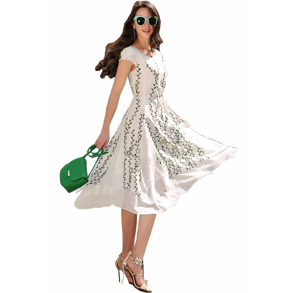 Women Long Summer Dress 2016 New Fashion Style Floral