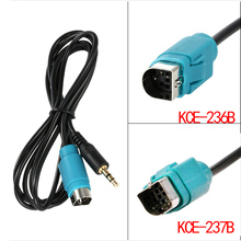 3.5mm Aux Cable Connection Line Audio Adapter for ALPINE KCE-236B KCE-237B MP3 Ipod iPhone 5 6S 6 Plus Smart Phone