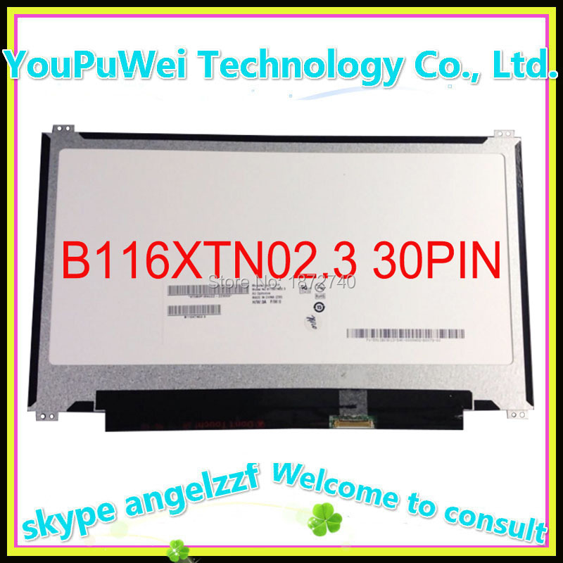 Prix pour Livraison gratuite Pour ASUS X205 X205T X205TA ordinateur portable lcd écran 30Pin Slim up and down Vis trou 11.6 pouce