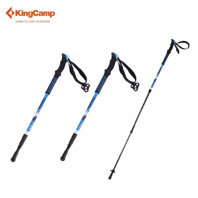 fd35c699f987c8 KingCamp 2Pcs Walking Stick Nordic Trekking Poles Ultralight Shock  Absorption Carbon Cane Hiking Stick Outdoor Equipment