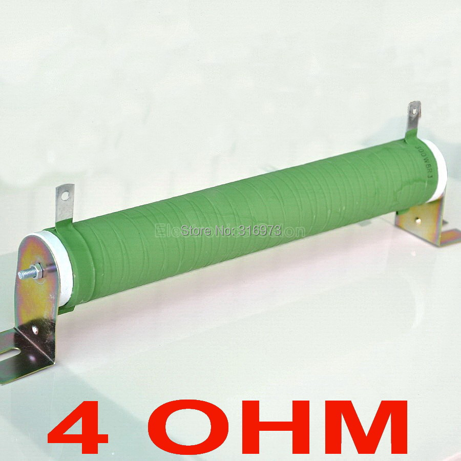 4 ohm 300 Watts Non inductive Wirewound Coated Ceramic Tube Resistor Audio Amplifier Dummy Load 300W