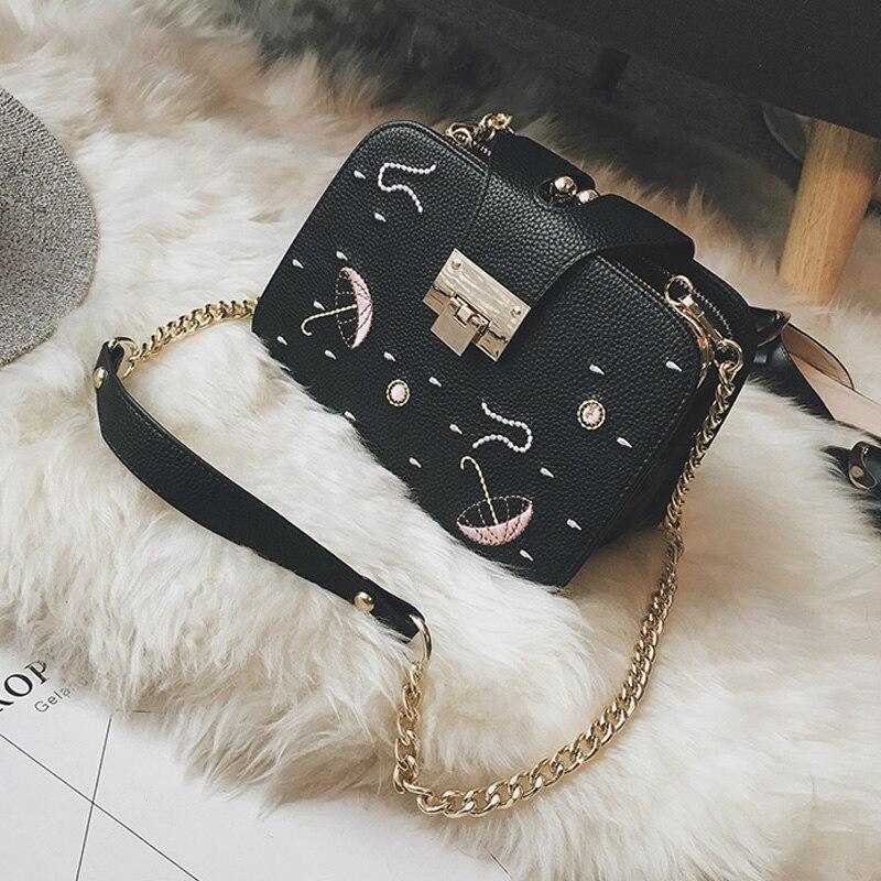 sacolas de ombro feminino bolsa Feature : Chains Bag