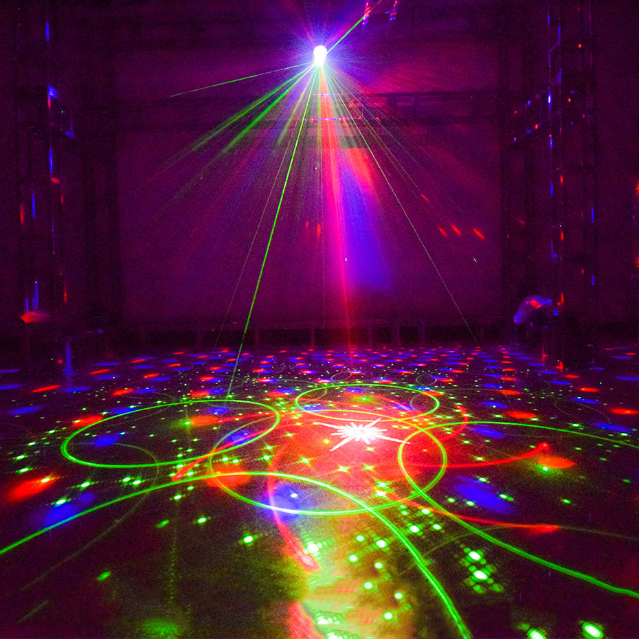 Image 5 - ALIEN RGB LED Crystal Disco Magic Ball With 60 Patterns RG Laser Projector DJ Party Holiday Bar Christmas Stage Lighting Effect-in Stage Lighting Effect from Lights & Lighting