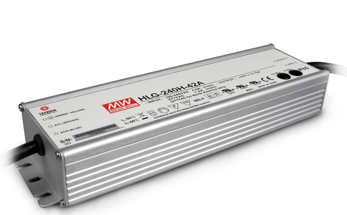 Original MEAN WELL 240W Single Output IP67 Constant Current /Voltage LED Driver Switching Power Supply With PFC HLG-240H