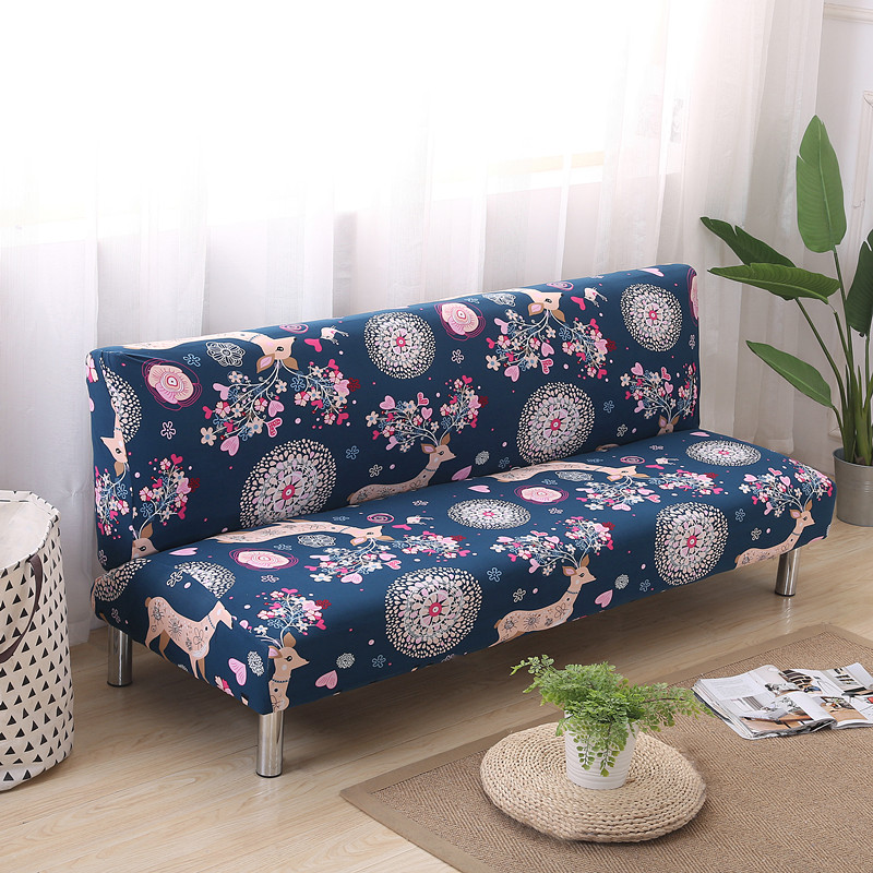 Custom Stretch Fabric Sofa Cover Without Armrest For Chrismas Party Wedding Gift Living Room Home Decor Couch Bed Folding Covers
