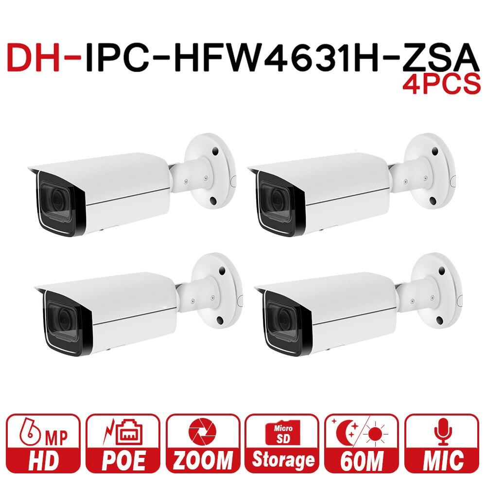 DH 6MP IP Caméra IPC-HFW4631H-ZSA Mise À Niveau De IPC-HFW4431R-Z 4 pcs/lot Avec la Construction Dans Microphone SD Fente Pour Carte PoE Caméra 6MP