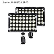New 2pcs Aputure Amaran AL-H198C Bi-color 3200K-5500K On Camera Led Video Light for Canon Nikon Sony Panasonic Camcorder DSLR