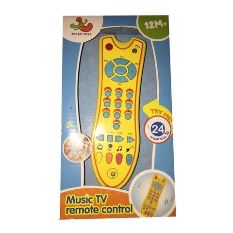 Baby Toys Music Mobile Phone TV Remote Control Early Educational Toys Electric Numbers Remote Learning Machine Toy Gift for Baby Multan