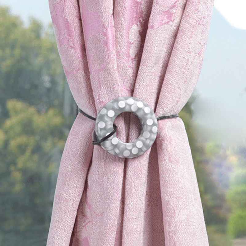 Circle Resin Magnetic Curtain Buckle Holdback Tieback Curtain Clip 2Pcs Curtain buckle