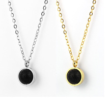 Lava Stone Bead Essential Oil Diffuser Necklace for Men Women Kids Aromatherapy Jewelry Silver Gold Stainless Steel Chain
