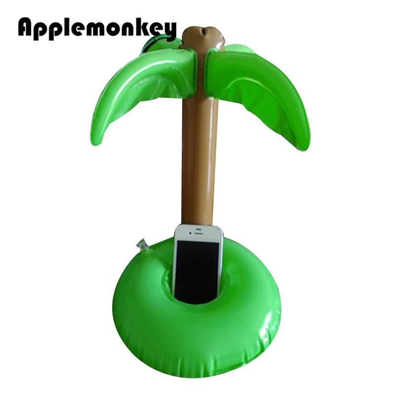 <font><b>2</b></font> <font><b>Pack</b></font> pvc inflatable palm tree floating swimming pool beach drink <font><b>cup</b></font> holder set phone holder