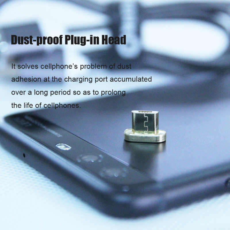 CANDYEIC Micro USB 2.0 อะแดปเตอร์แม่เหล็กสำหรับ Android Huawei สาย USB,แม่เหล็กสำหรับ Redmi LG Moto Xiaomi HONOR ชาร์จ