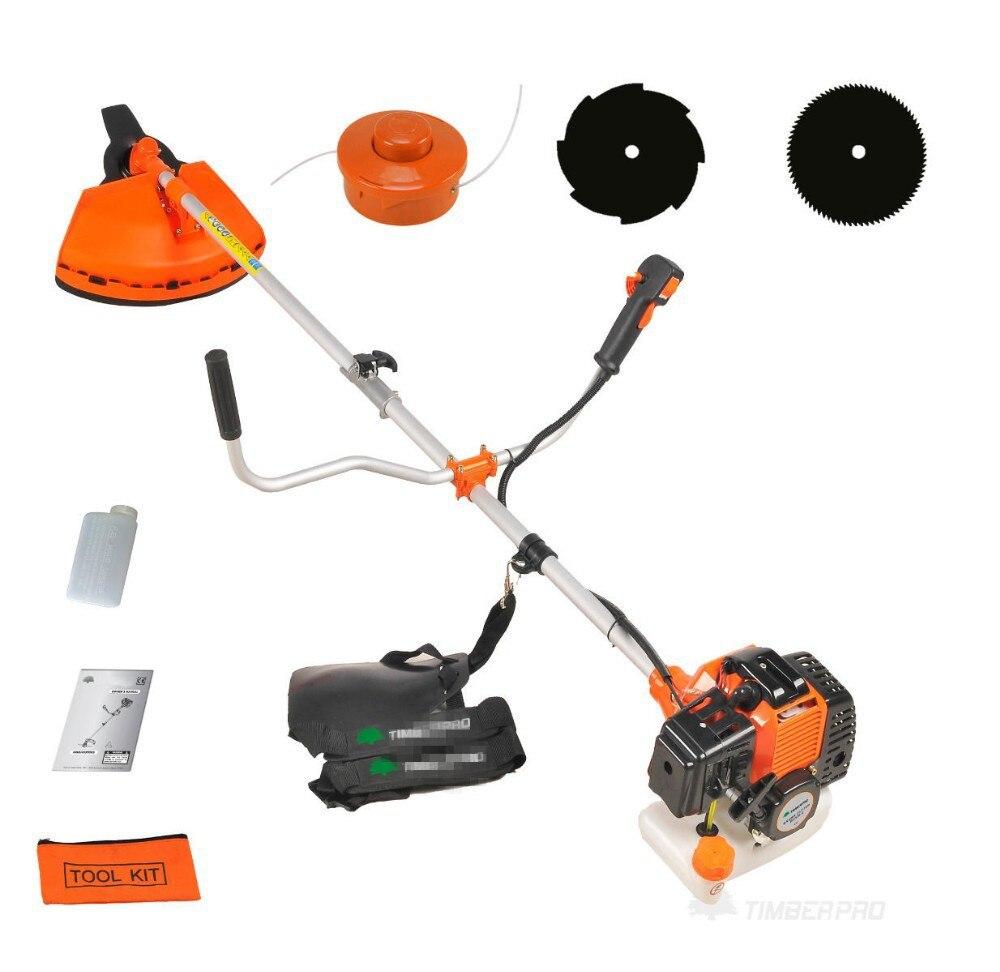 2-strokes Heavy Duty 4 in1 Gasolina Strimmer Aparador de Grama cortador de Escova 52cc/Arbusto Cortador Whipper Snipper 3 ferramenta Lâminas