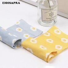 [Eioisapra] impressão ovo design jacquard meias moda feminina criativo arte meias reto meias japão harajuku calcetines mujer