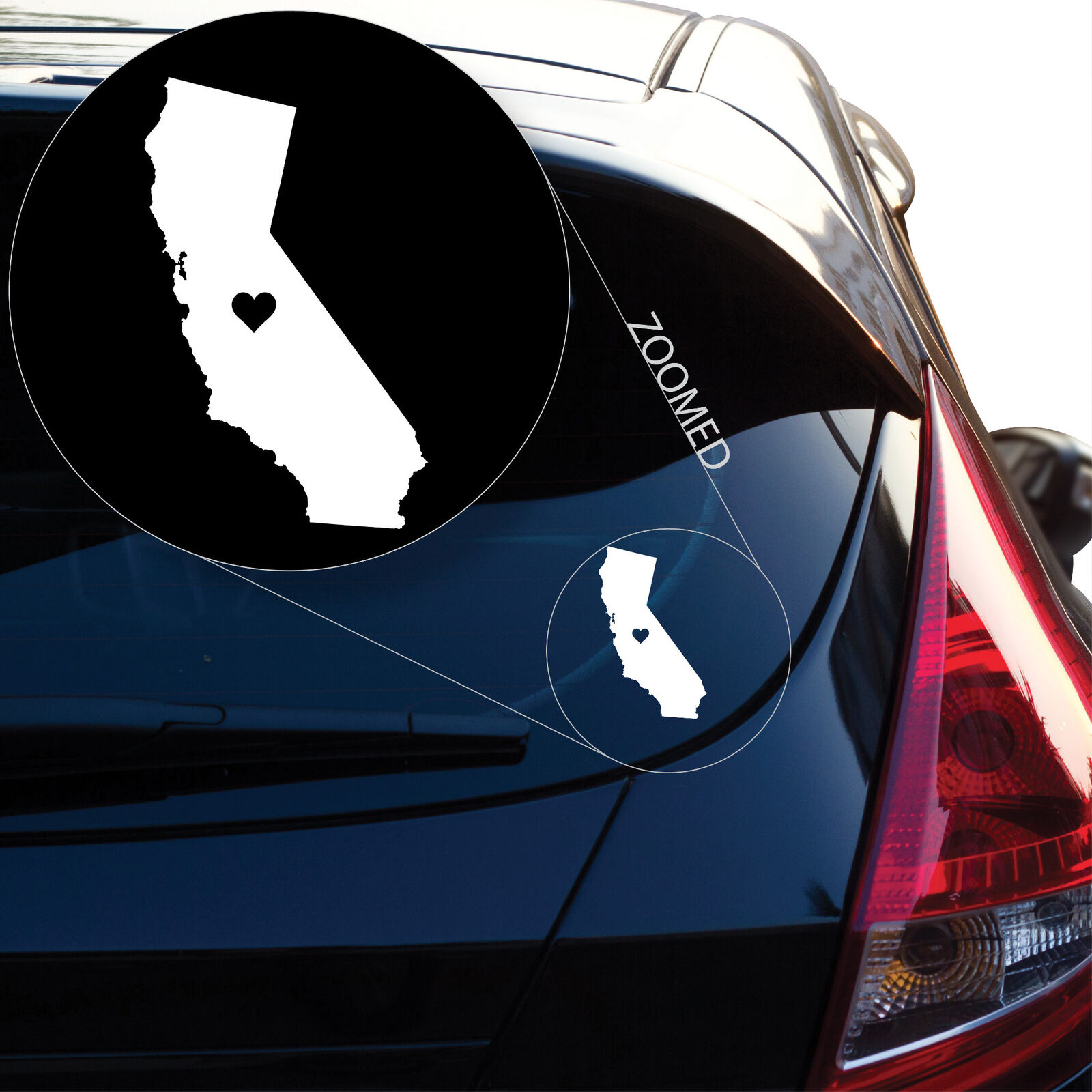 Liebe Kalifornien Vinyl Aufkleber