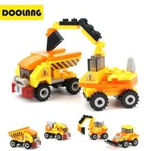 4pcs/lot Engineering Truck Building Blocks Set Toy Car City Construction Enlighten Education Assembly Toys Excavator Kids Gift