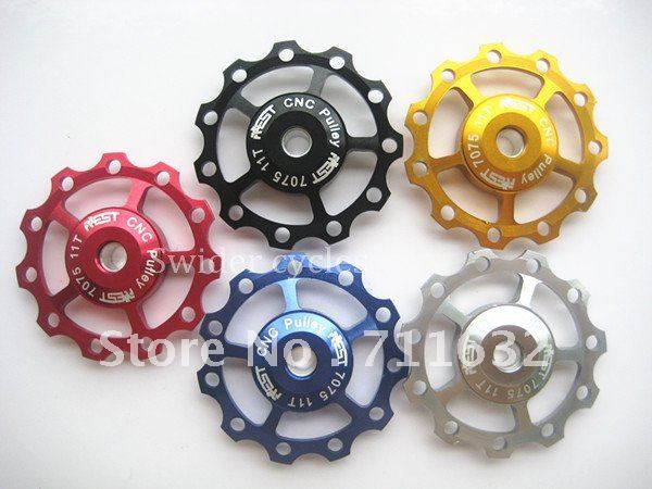 wholesale price Jockey Wheel for Rear Derailleur Pulley 11T Mix-color 10pcs/lot