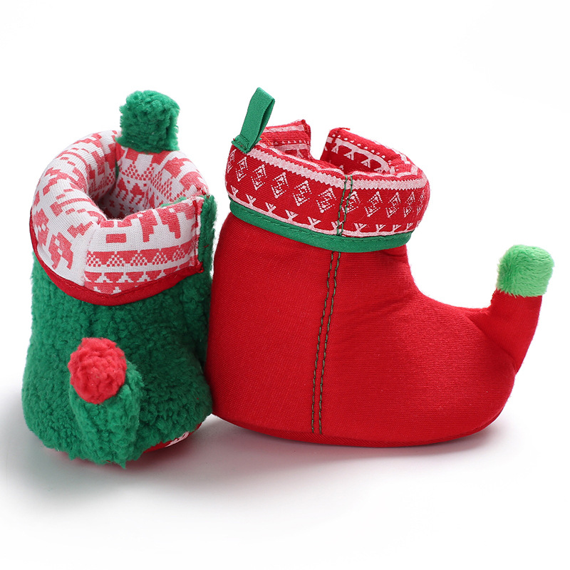 Christmas Baby Shoes Newborn Bootie Winter Warm Infant Toddler Snowboots Crib Shoes Classic Floor Boys Girls Boots