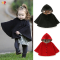 AD Fashion Girls Cloak for Autumn Winter Kids Children's Clothing Clothes Baby Girls Coats