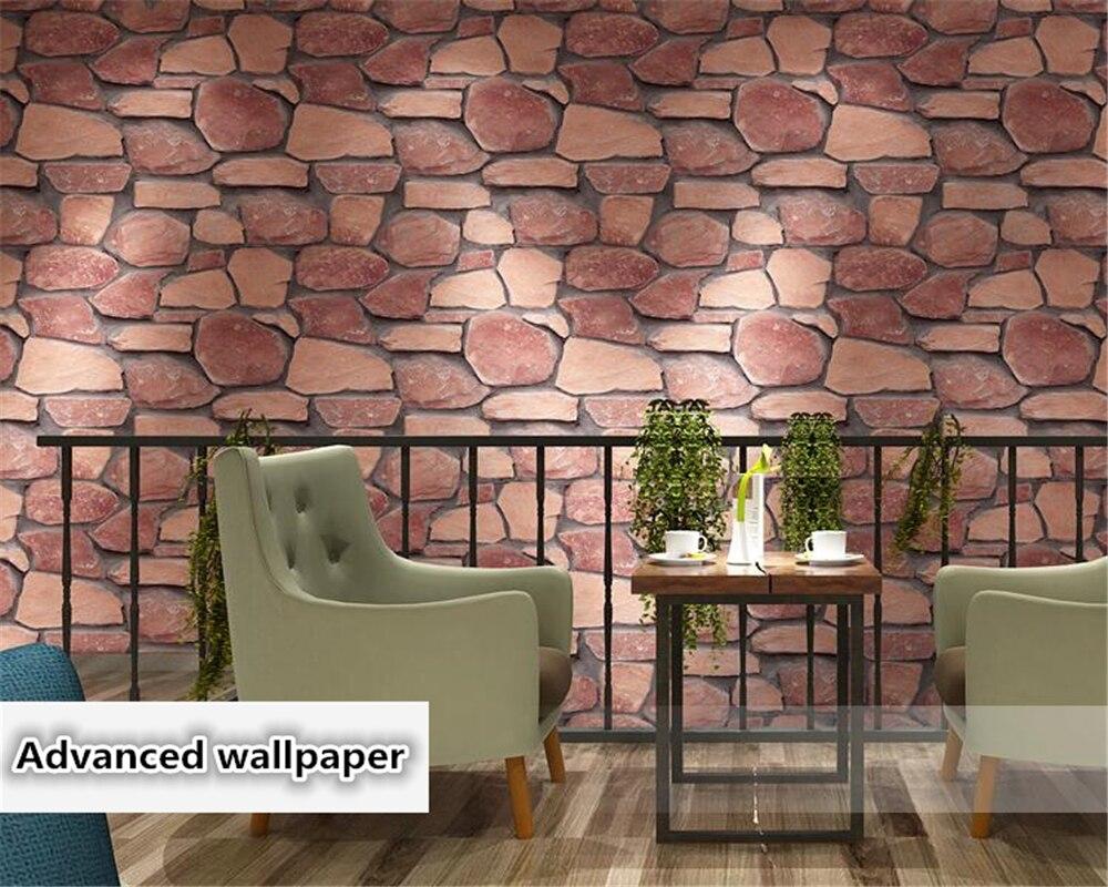 Beibehang mode 3D brique motif papel de parede papier peint 3d papier peint culture salon antique brique mode papier peint