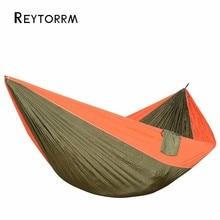 Открытый Большой размер гамаки нейлон для 2 человек Спящая кровать гамак для путешествий Кемпинг выживания подвесное кресло 320*200 см