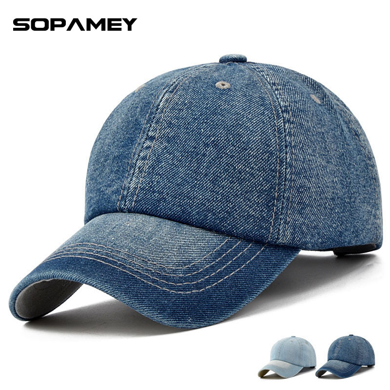 Brand Denim Baseball Cap Spring Autumn Casual Sanpback Hats For Men And Women Outdoor Sports Bone Gorras Teenage Hats Dad Caps fashion printed skullies high quality autumn and winter printed beanie hats for men brand designer hats