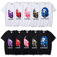 2019 New Arrival A Bathing Ape Short Casual O neck Print Knitted Men&Women T shirts
