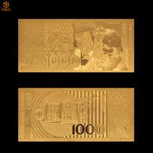 Productos de alto volumen Alemania 1991 versión 1000 billetes de marca chapado en oro colección de dinero falso