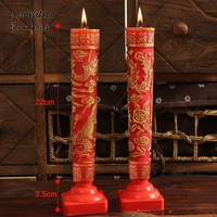 Classic candles, Wedding candles ceremonies marriage a pair red candles
