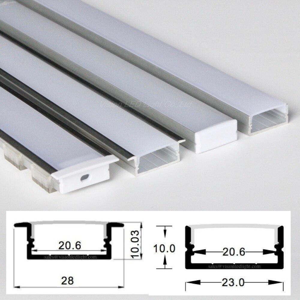 20m 20pcs a lot 1m per piece wide aluminum profile for led double row strips two