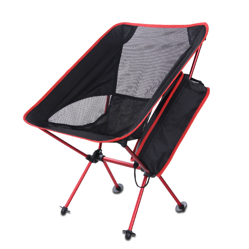 Outdoor Folding Travel Fishing Chair Garden Camping Supplies Stool Chair Lightweight Moon Chair the silver chair