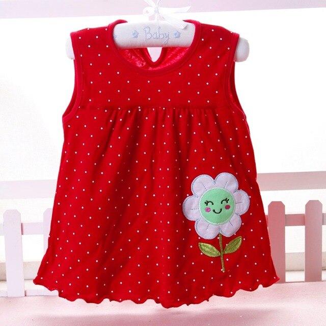 Dziewczynek sukienka dziewczynka letnie ubrania 2018 sukienka dla dzieci księżniczka 0-2 lat bawełna odzież sukienka dziewczyny ubrania niska cena