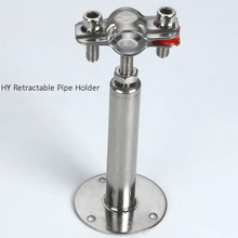 "3/4""to  4"" 100-150mm  Stainless Steel Retractable Pipe Hanger  with Pallet,  ss304 adjustable Pipe Clamp"