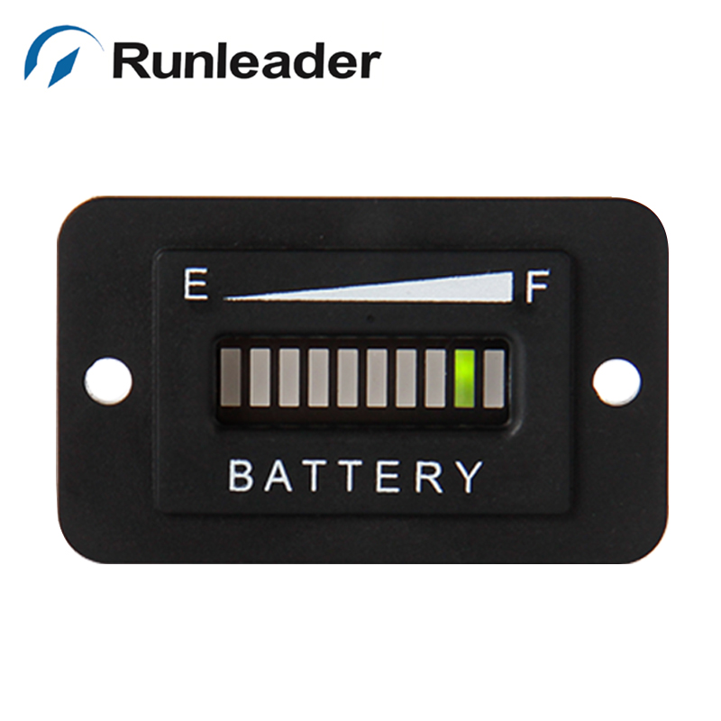 10pcs lot Lead Acid Storage Battery Freeshipping RL BI003 10 Bar LED Battery Charge Indicator