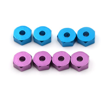 4 Pc Aluminum 4P HSP 102042 1/10 Upgrade Parts For 4WD RC Car Himoto Wheel Hex Nut 12MM With Pins Drive Hubs image