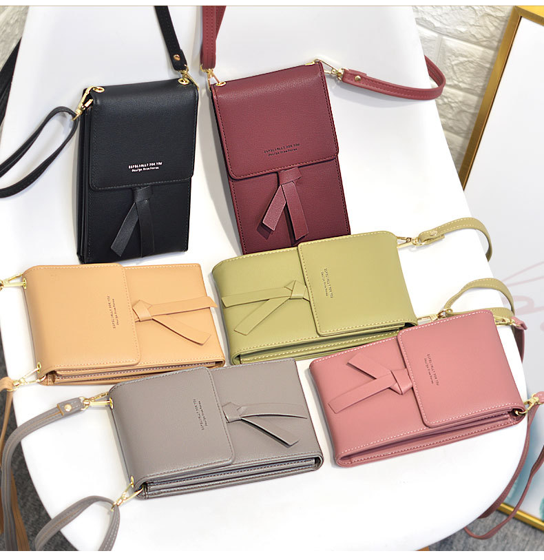 Latest Fashion Women Phone Messenger Bags Leather Simple Hasp Money Coin Purse Big Capacity Daily Use Shoulder Bags Card Wallet