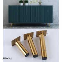4 шт./лот, золотой диван, шкаф, шкаф, ножки, мебель, нога, золото