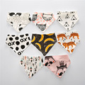 Baby bibs High quality double layers cotton new born Animal Print baby bandana bibs dribble bibs 19 color