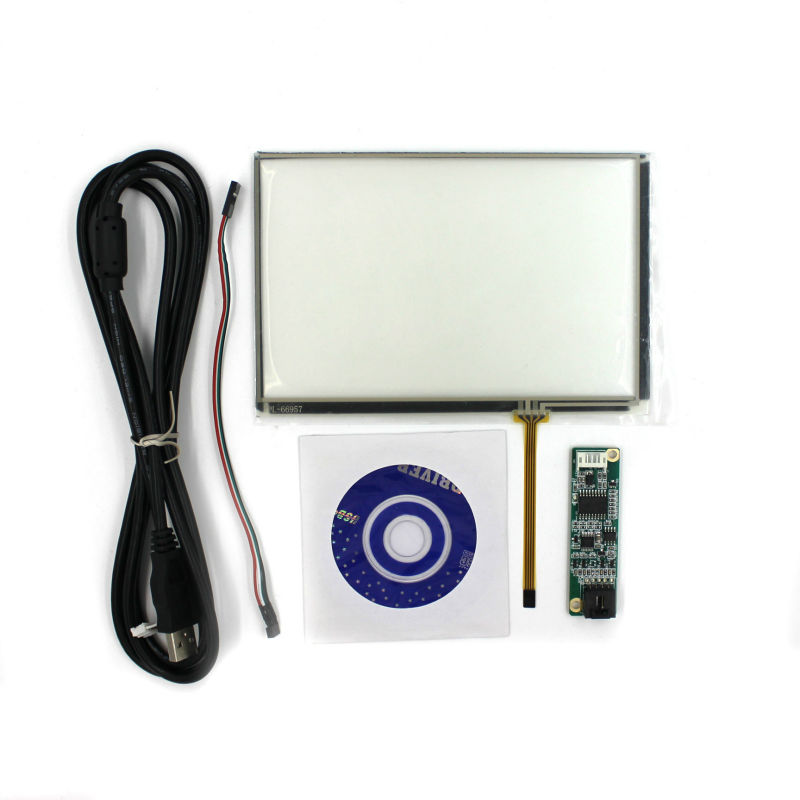 все цены на  7inch 4-wire Resistive touch panel+Controller card for 7inch 1280*800 16:10 lcd  онлайн