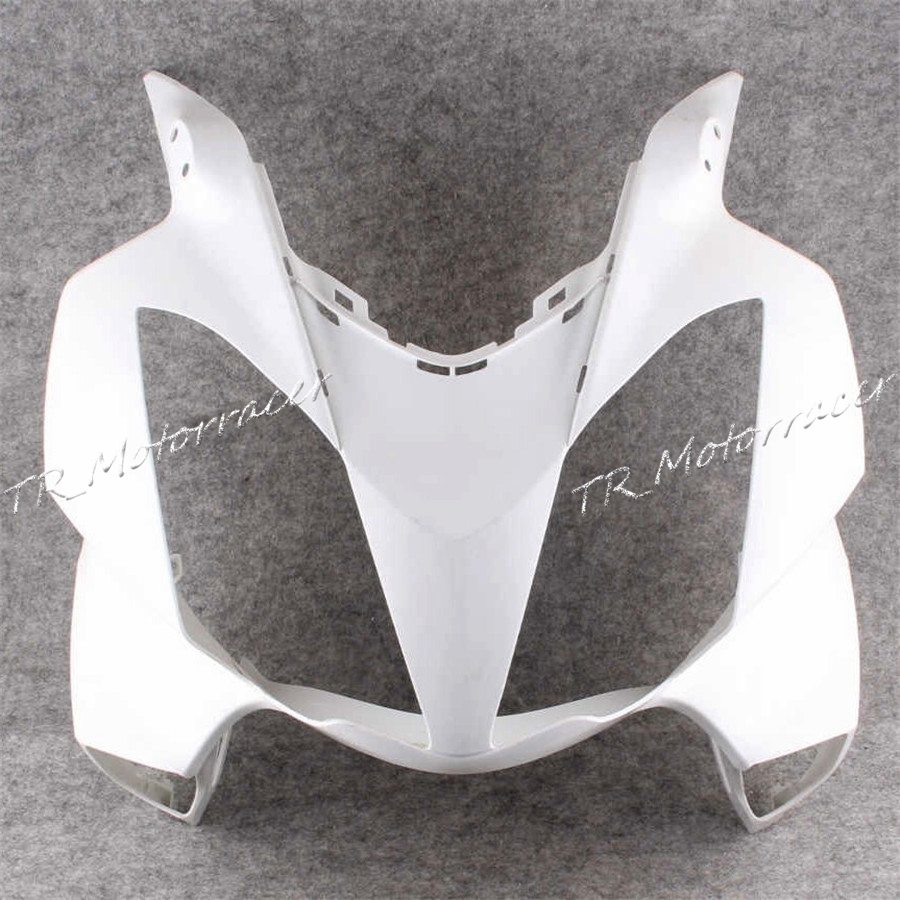 Unpainted White Upper Front Cowl Nose Fairing For Honda VFR 800 2002-2012 2009 2010 2011 ABS Plastic Accessories New unpainted front nose top fairing for triumph daytona 675 2009 2012 10 11 upper cowl