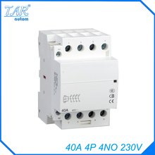 Din rail household AC contactor  40A 4P 4NO 230V Household contact module Rail Modular