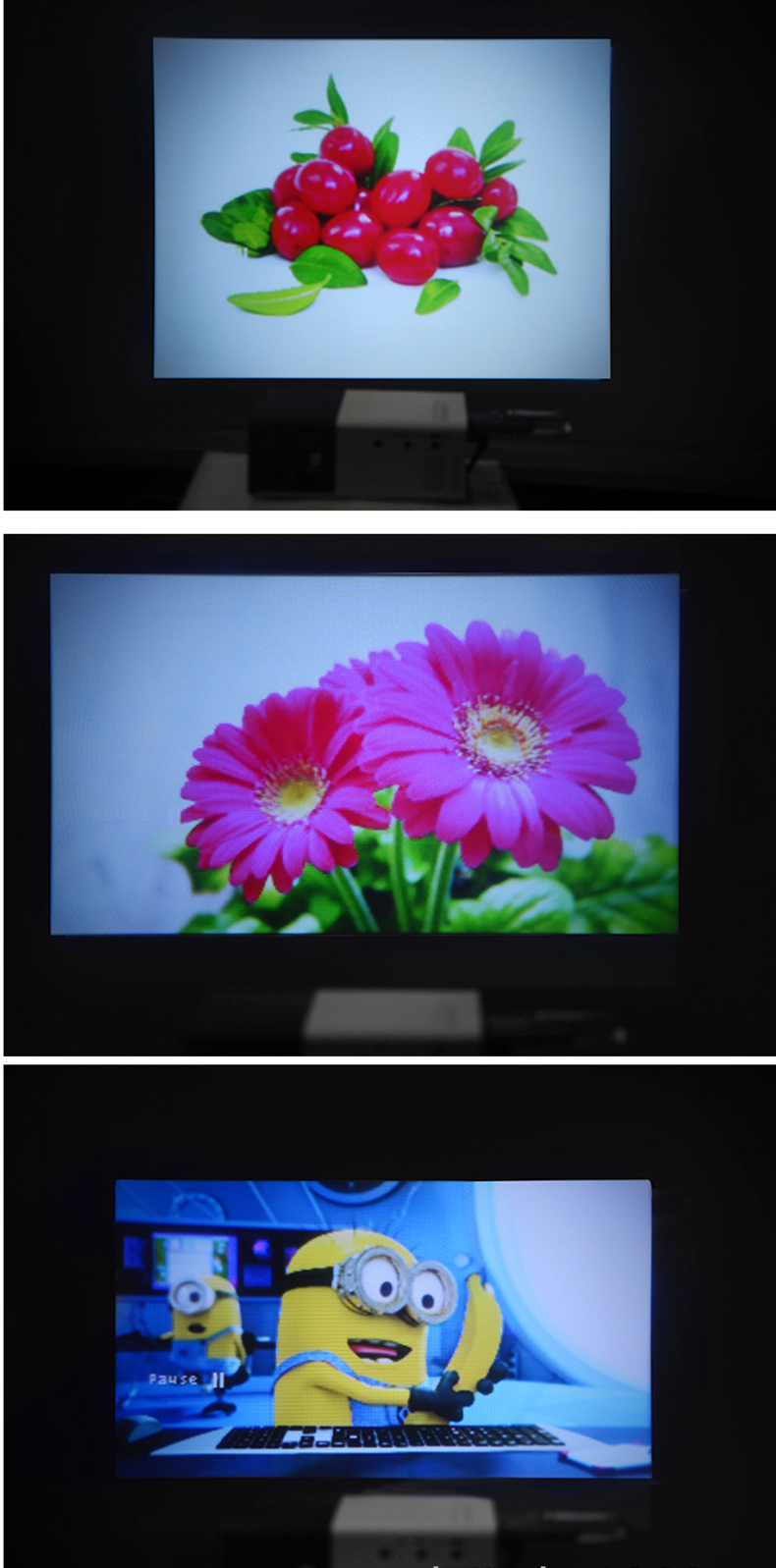 Excelvan YG320 Mini Projector Led Proyector Projetor 500LM Audio HDMI USB Mini YG-320 Projetor Home Theater Media Player Beamer (18)