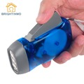 No Battery Portable 3 LED Hand-press Emergency Camping Flashlight Hiking Travel Outdoor Multicolor